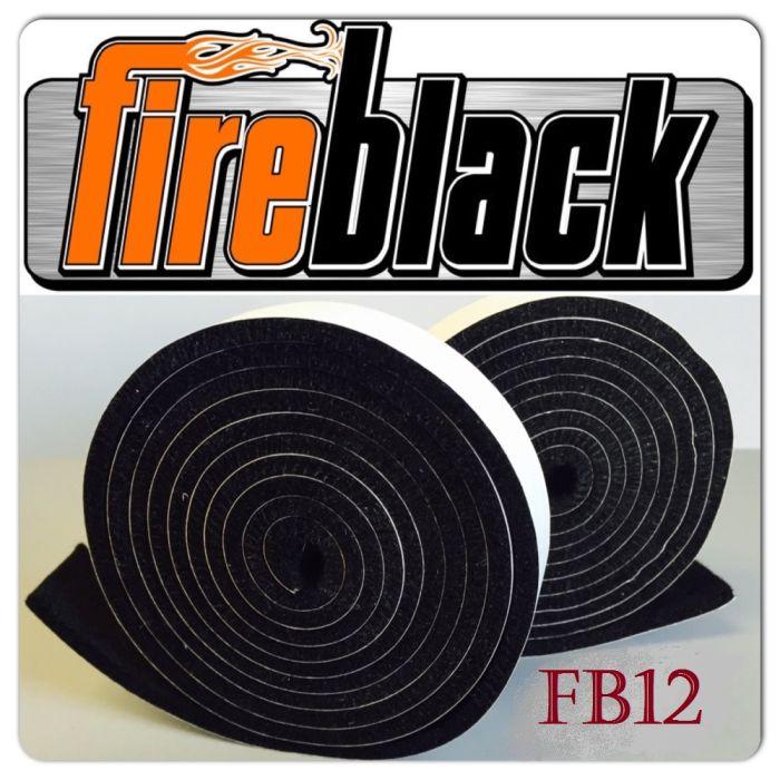 FireBlack12 BBQ smoker gasket (Self stick) - 1/2 x 1/8 x15'