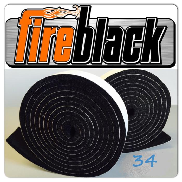 FireBlack34 BBQ smoker gasket (Self stick) - 3/4 x 1/8